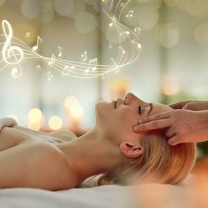 Immersive Massage mit Musik