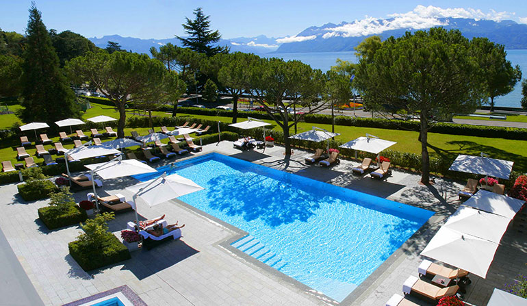 Piscine Hotel Beau Rivage Palace Lausanne